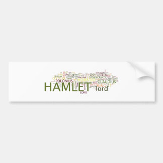 A Wordle based on Shakespeare's Hamlet Car Bumper Sticker