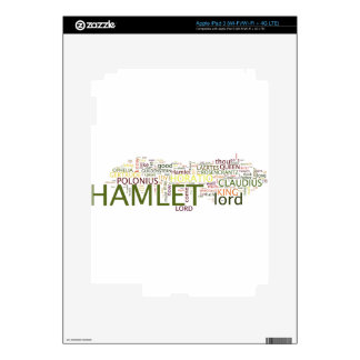 A wordle made for the text of Shakespeare's Hamlet Decal For iPad 3