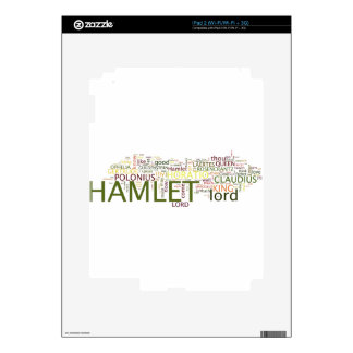 A wordle made for the text of Shakespeare's Hamlet iPad 2 Skins
