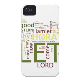 A wordle made for the text of Shakespeare's Hamlet iPhone 4 Covers