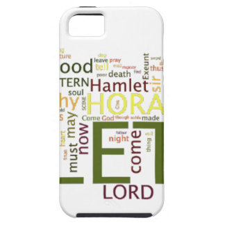 A wordle made for the text of Shakespeare's Hamlet iPhone SE/5/5s Case