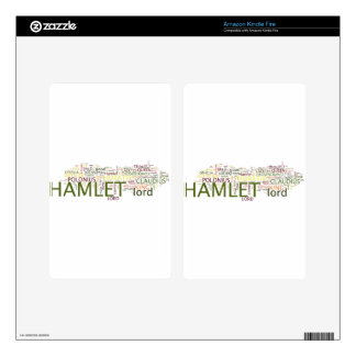 A wordle made for the text of Shakespeare's Hamlet Kindle Fire Decals