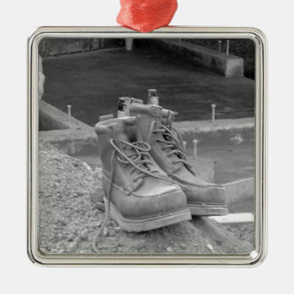 A Working Man's Boots Metal Ornament