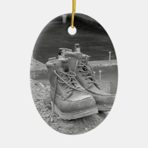 A Working Man's Boots Christmas Ornaments