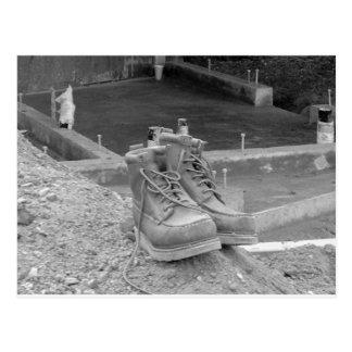 A Working Man's Boots Postcard