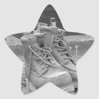 A Working Man's Boots Star Sticker