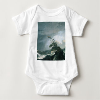 A World Famous Painting of A Stormy Sea Baby Bodysuit