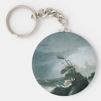 A World Famous Painting of A Stormy Sea Keychain