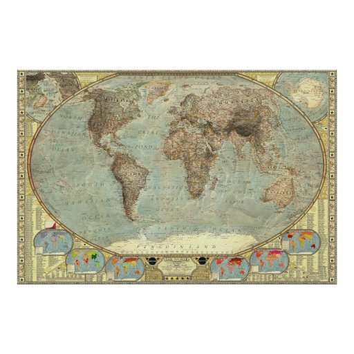 A World Map of Stereotypes Posters