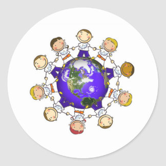 A World of Angels Classic Round Sticker