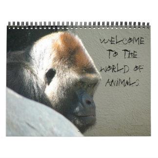 A WORLD OF ANIMALS calendar
