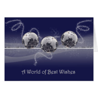 A World of Best Wishes Christmas Card