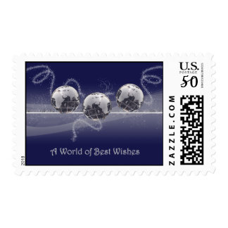 A World of Best Wishes Postage Stamp