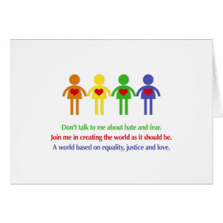 A World of Equality, Justice and Love Card