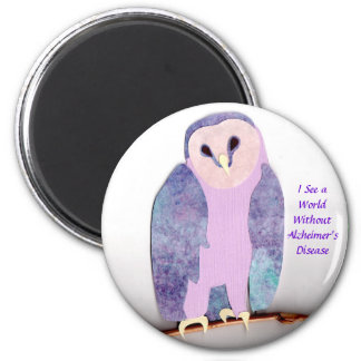 A World Without Alzheimer's 2 Inch Round Magnet