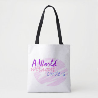 A world without borders tote bag