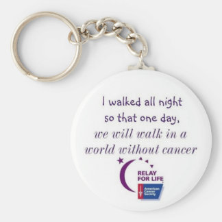 A World Without Cancer Basic Round Button Keychain