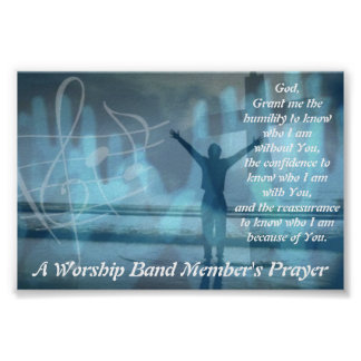 A Worship Band Member's Prayer Posters
