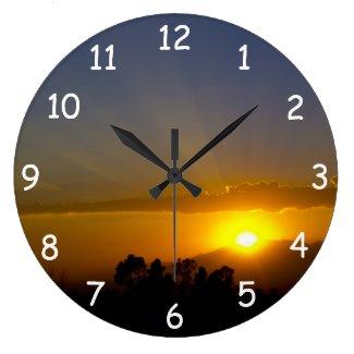 A WOW! Sunset 2 Wall Clock