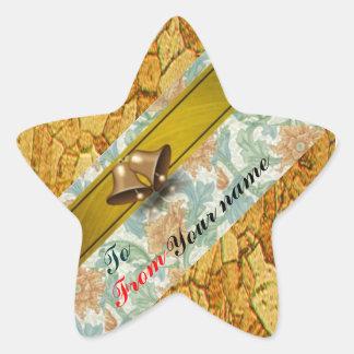 A y desde los pegatinas del navidad del regalo colcomanias forma de estrella