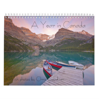 A Year in Canada 12 Month Calendar