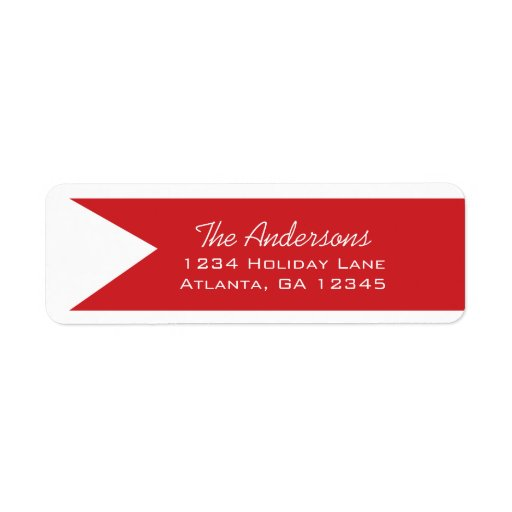 A Year In Review Family Christmas Holiday Return Address Labels