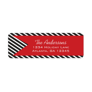 A Year In Review Family Christmas Holiday Return Address Label