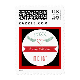 A Year In Review Family Christmas Holiday Postage Stamp