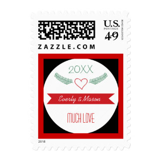 A Year In Review Family Christmas Holiday Postage Stamps
