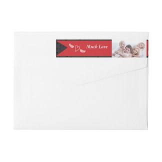 A Year In Review Family Christmas Holiday Wraparound Return Address Label