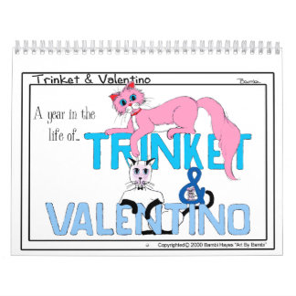 """""""A year in the life""""...a Trinket and Valentino Calendar"""