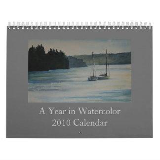 A Year in Watercolor - 2010 Calendar