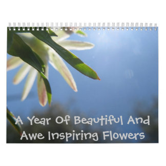 A Year Of Beautiful And Awe Inspiring Flowers Calendar