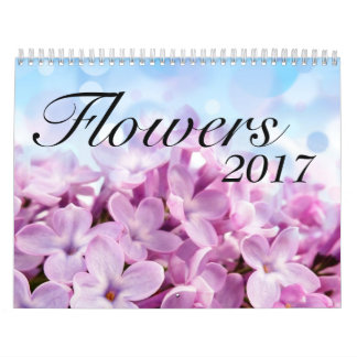 A Year of Beautiful & Colorful Flowers 2017 Calendar