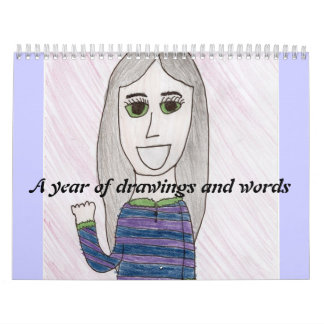a year of drawigns and words calendar