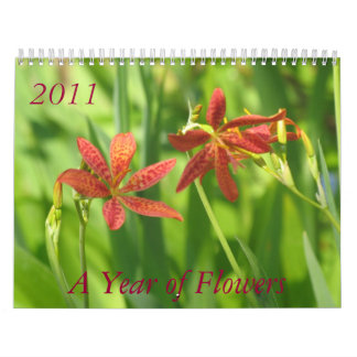 A Year of Flowers, 2011 Wall Calendars