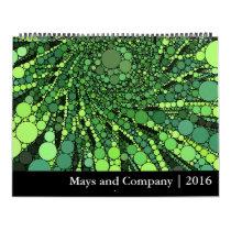 A Year of Geometric Patterns Calendar