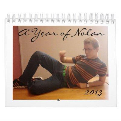 A Year of Nolan Calendar