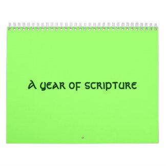 A year of scripture calendar