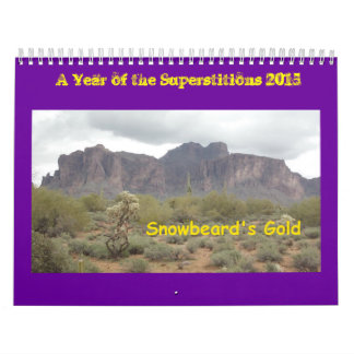 A Year of the Superstitions 2015 Calendar