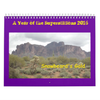A Year of the Superstitions 2016 Calendar
