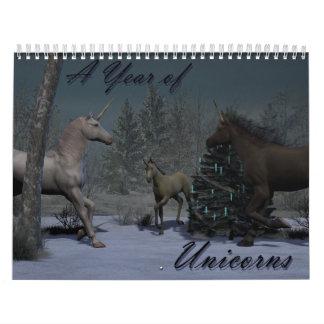 A Year of Unicorns Calendar