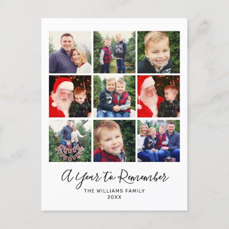 A Year to Remember Happy New Year Photo Collage Holiday Postcard