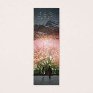 'A year went by in a single day' poetry bookmark Mini Business Card
