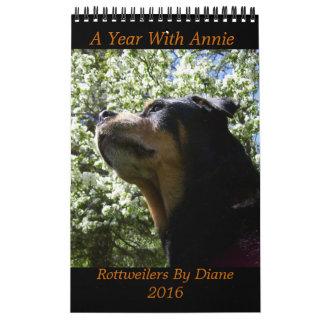 """A Year with Annie"" 2016 Rottweiler Calendar"