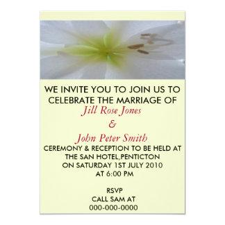 A Yellow & Green Flower Wedding Invitation Card