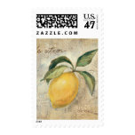 A Yellow Lemon Fruit Stamp
