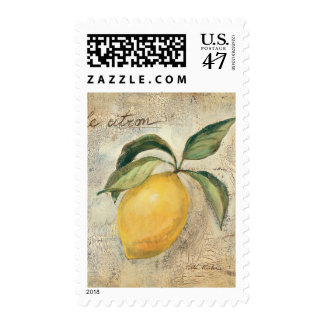 A Yellow Lemon Fruit Stamp