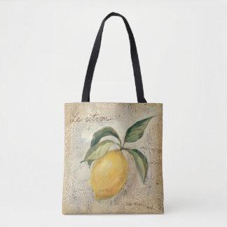 A Yellow Lemon Fruit Tote Bag