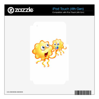 A yellow monster playing with her child decal for iPod touch 4G